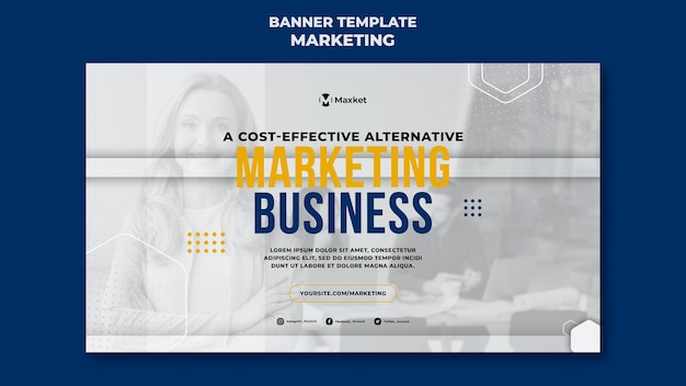 Modello di banner per attività di marketing