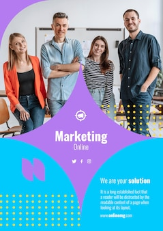 Modello di stampa di marketing con foto
