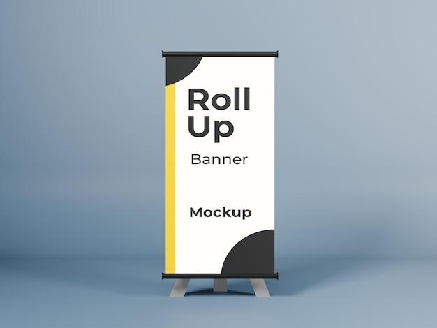 Mockup banner roll up marketing psd