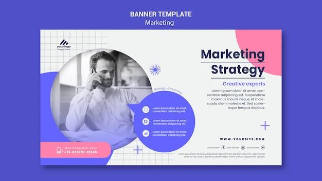 Modello di banner di strategia di marketing