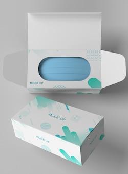 Mockup della scatola della maschera