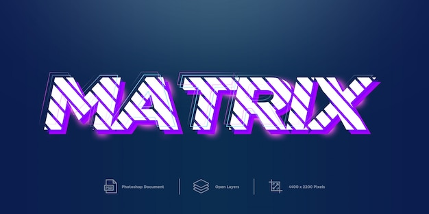 Matrix text effect design layer style