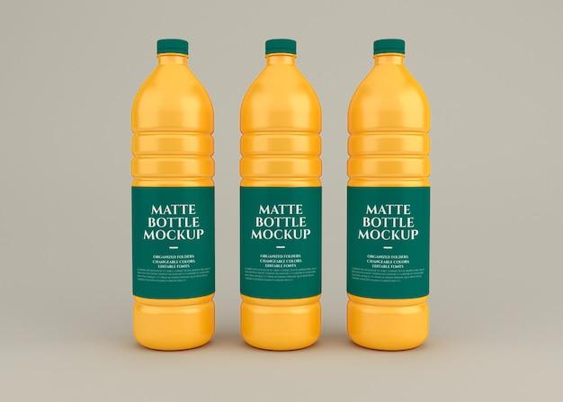Rendering di design mockup bottiglia opaca