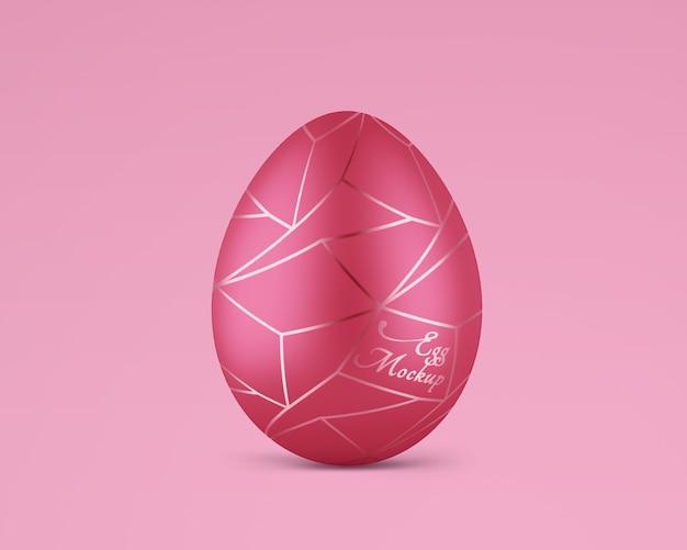 Uovo di pasqua opaco con mockup in oro rosa