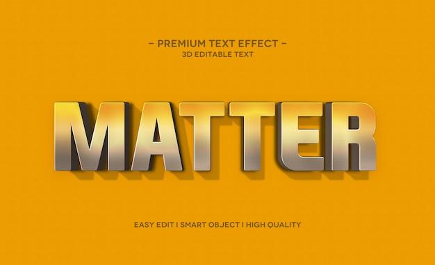 Matter 3d text style effect template Psd Premium