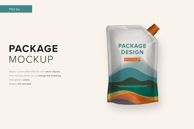 Mockup di pacchetto maionese in mockup di stile di design moderno