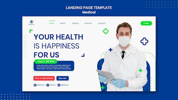 Pagina di destinazione dell'assistenza medica
