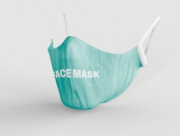 Mockup di maschera facciale medica