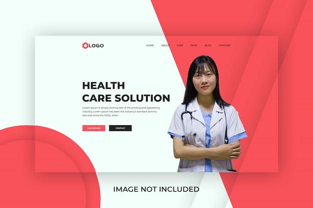 Premio modello di pagina iniziale di assistenza sanitaria medica