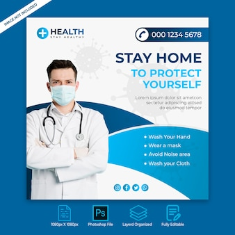 Insegna della posta del instagram di media sociali di sanità medica