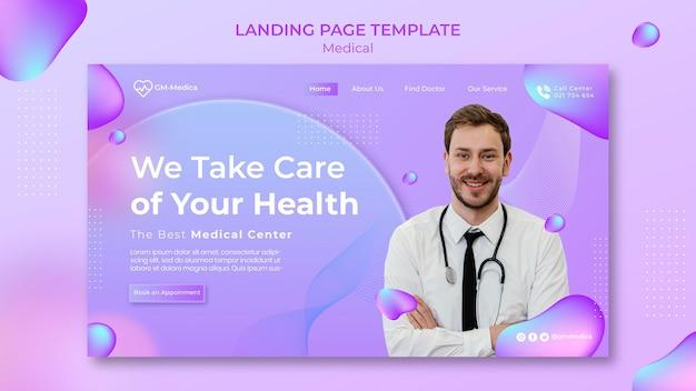 Modello di pagina di destinazione medica