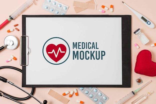 Mockup di design per appunti medici