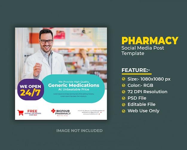 Modello di post medico sociale dei media
