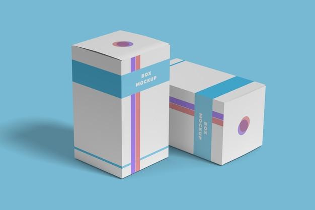Mockup di scatola di medicinali