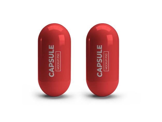 Mockup della pillola della capsula della medicina isolato