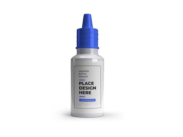 Mockup della bottiglia del contagocce della medicina