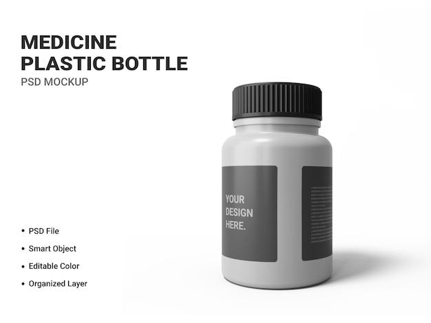 Medicina bottiglia di plastica mockup isolato