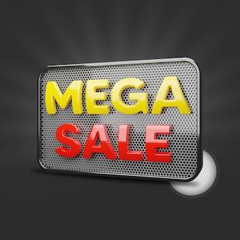 Mega vendita 3d rendering