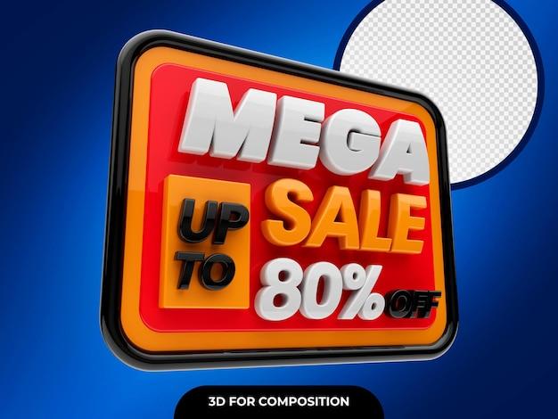 Mega sale 3d con sconti fino all'80% su psd premium