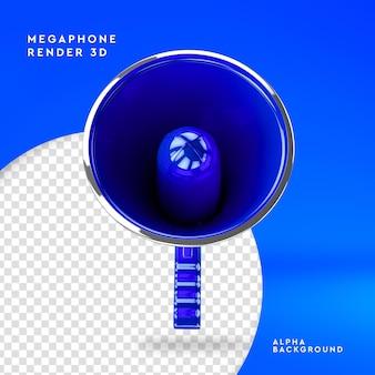 Creatore di scena del megafono rendering 3d isolato