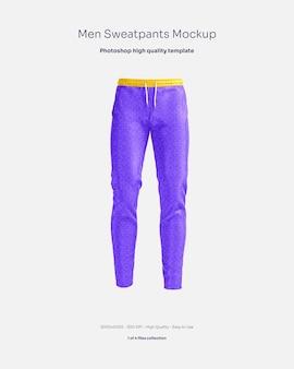 Mockup di pantaloni della tuta da uomo
