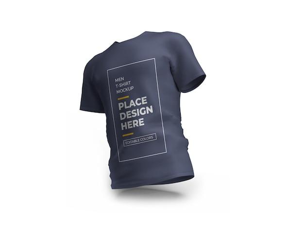 Uomini tshirt mockup design nel rendering 3d