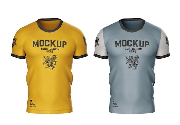 Mockup di maglietta sportiva da uomo
