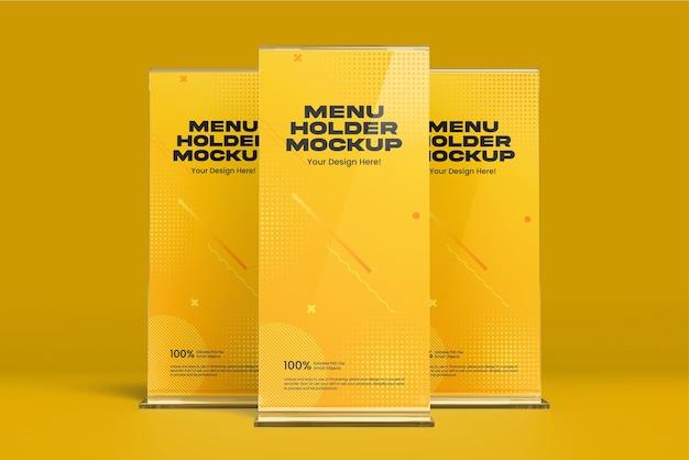 Pacchetto mockup porta menu