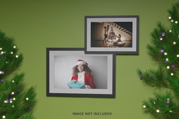 Modello di cornice per foto concetto di buon natale giorno psd premium
