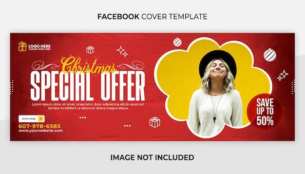 Buon natale copertina facebook e modello banner web