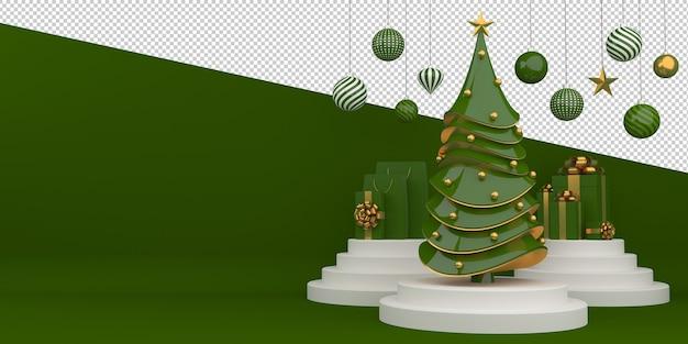Buon natale e felice anno nuovo rendering 3d