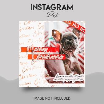 Modello di post di instagram di buon natale