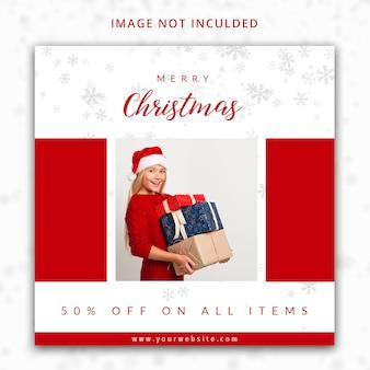 Modello di post di instagram di vendita di buon natale