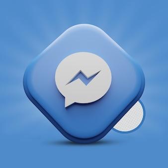 Rendering dell'icona di messenger 3d