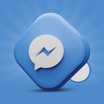Rendering di icone 3d di messenger