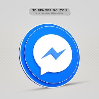 Icona di rendering 3d di messenger