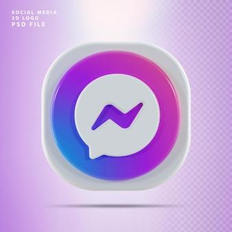 Icona del messaggero 3d render forma