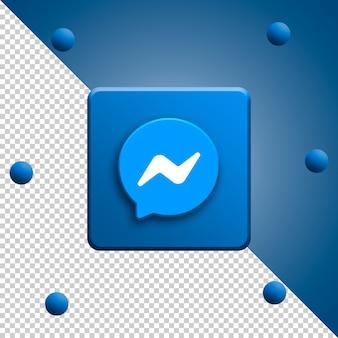 Messenger logo 3d rendering isolato