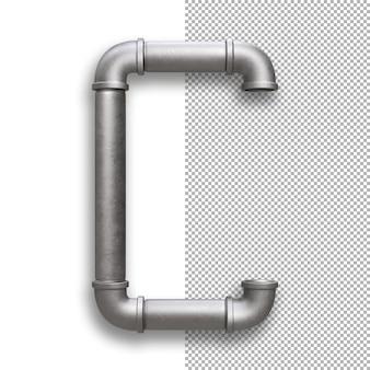 Tubo metallico, alfabeto c
