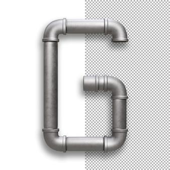 Tubo metallico, alfabeto g