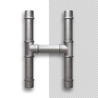 Tubo di metallo, alfabeto h