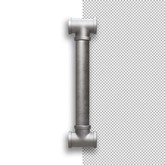 Tubo metallico, alfabeto i
