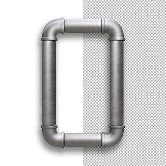 Tubo metallico, alfabeto o