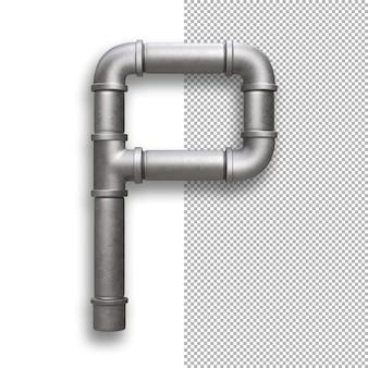 Tubo metallico, alfabeto p