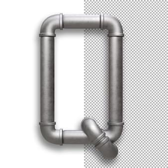 Tubo metallico, alfabeto q