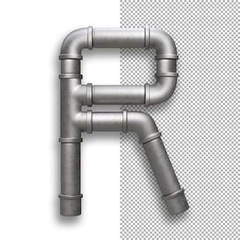 Tubo metallico, alfabeto r