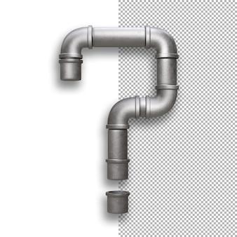 Tubo metallico, punto interrogativo