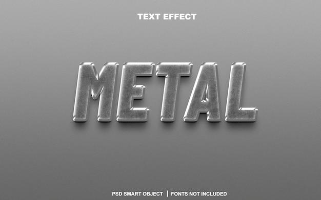 Effetto testo in metallo. oggetto intelligente di testo modificabile