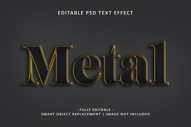 Effetto testo in metallo