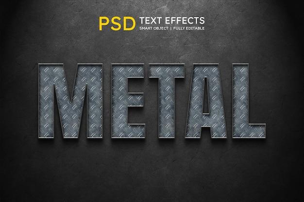 Effetto stile testo in metallo